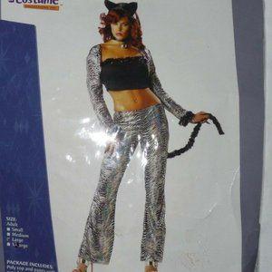 New Womens Disco Kitten Halloween Costume Large